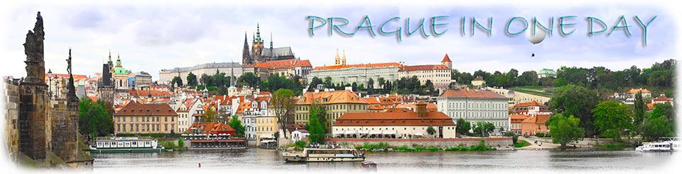 Ein ganzer Tag in Prag zu Fuß, per Flussboot und mit der Straßenbahn.